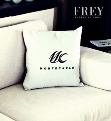 Frey embroidery pillows