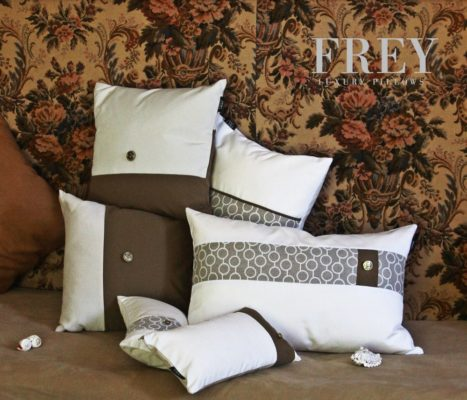 White pillows for yachts interiors