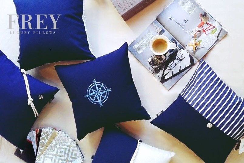 Frey luxury pillows – yacht decor for priceless moments