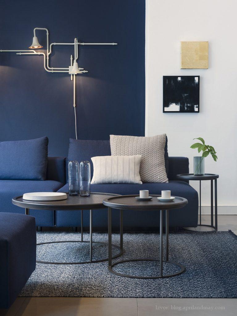 Blue color in interior