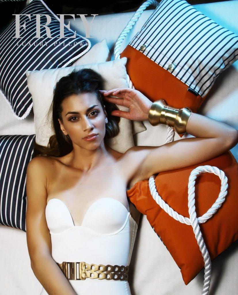 Orange decorative pillows