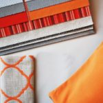 orange decorative pillows
