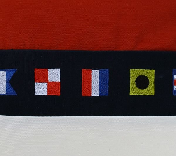 Frey design with nautical flags