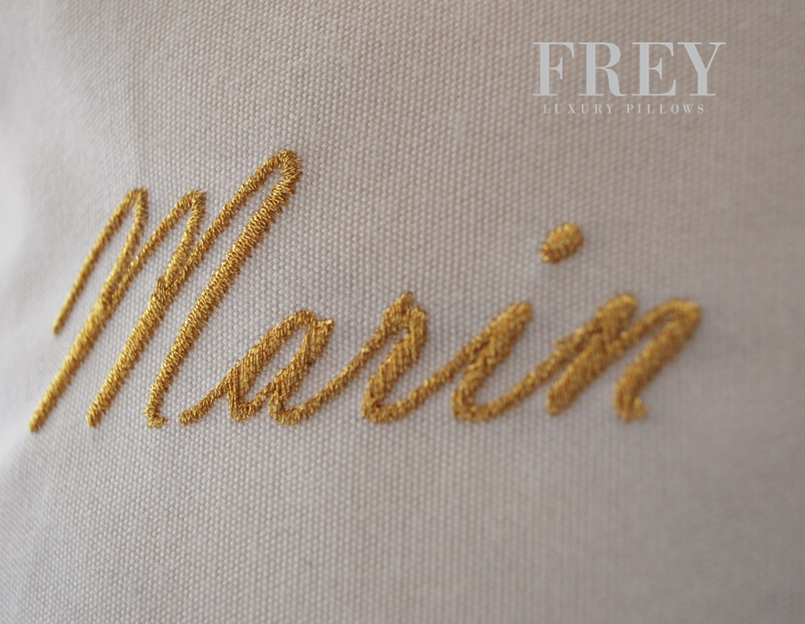 Frey wedding pillow with embroidery