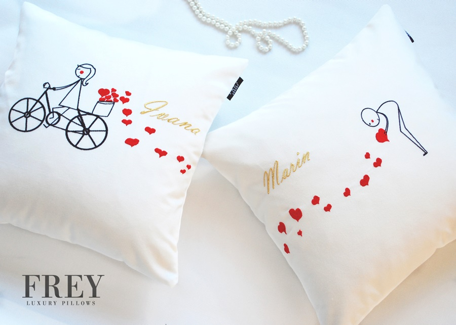 Wedding gift - luxury pillows with embroidery