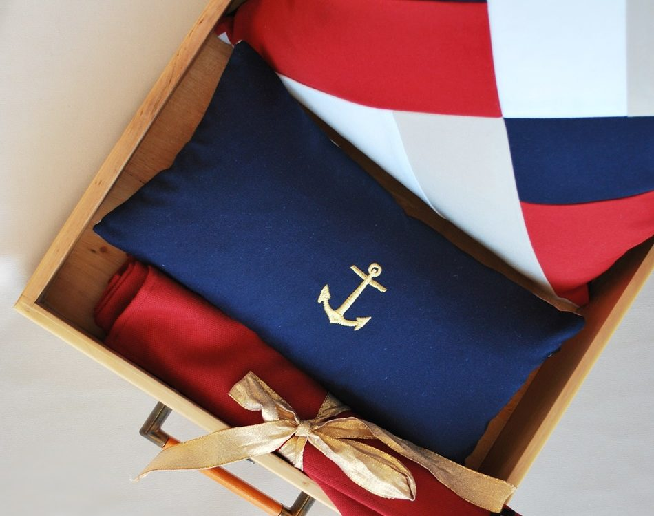New outdoor pillows in Navy Admiral collection