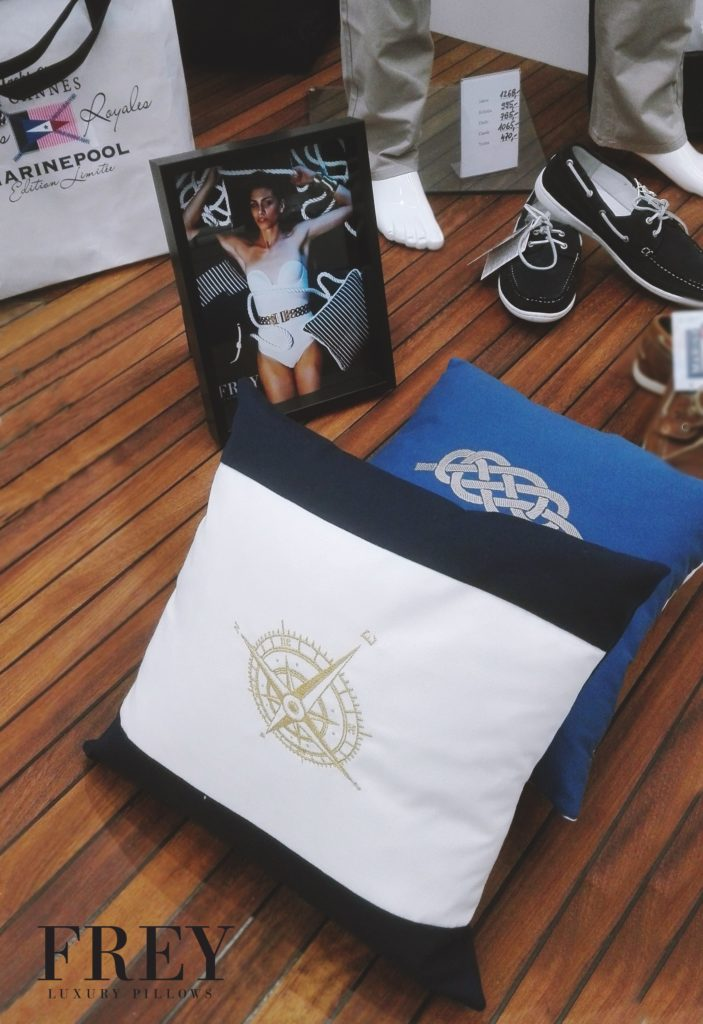 Frey luxury pillows in Marinepool store