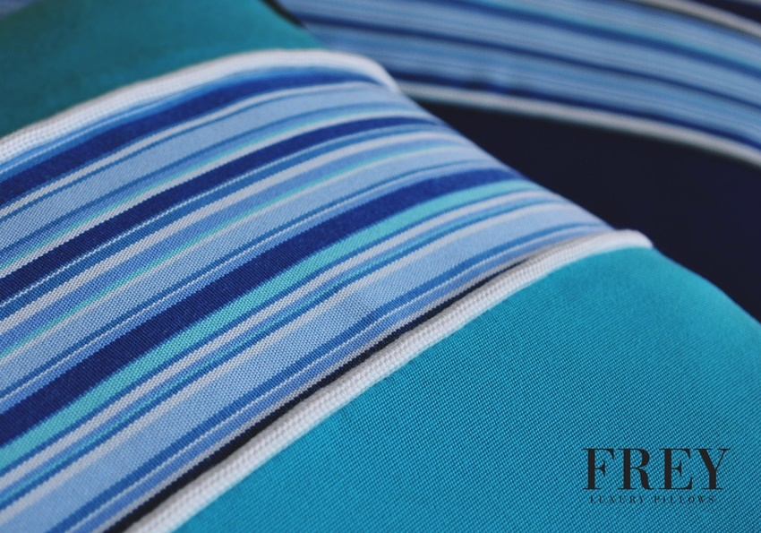 Frey design in outdoor pillows