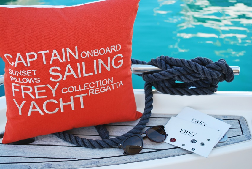 New outdoor pillows for fresh yacht look