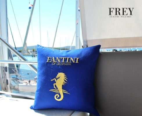 Frey luxury pillows for Fantini