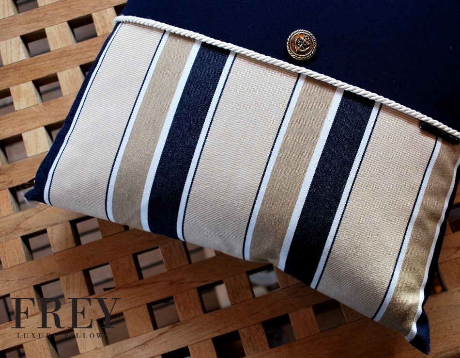 Striped yacht decor
